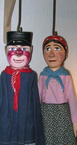 stangpoppen Tchantches en  Nanesse uit Luik