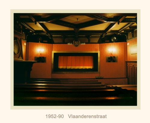 De zaal in de Vlaanderenstraat na de laatste aanpassingen