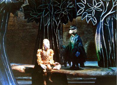 """Een scène uit het eerste bedrijf (derde tafereel) van """"De gouden Vogel"""""""