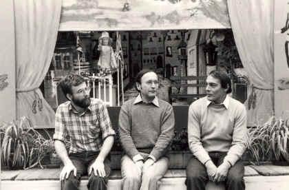 De spelersploeg in juli 1979 : vlnr : Chris Van Hulle, Marc De Puydt en Dolf Vergauwen