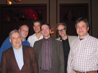 """De """"mannen"""" van Pedrolino in maart 2010, bij het afscheid van Frederik Byttebier"""